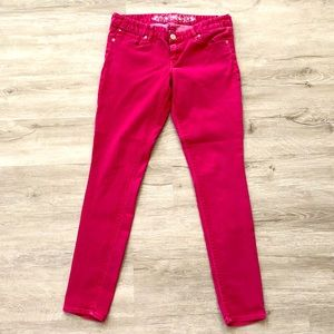 Faded pink low rise Express jeggings!